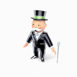 3D mr monopoly model