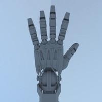 3D hi cyborg hand