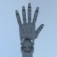 hi poly Cyborg Hand