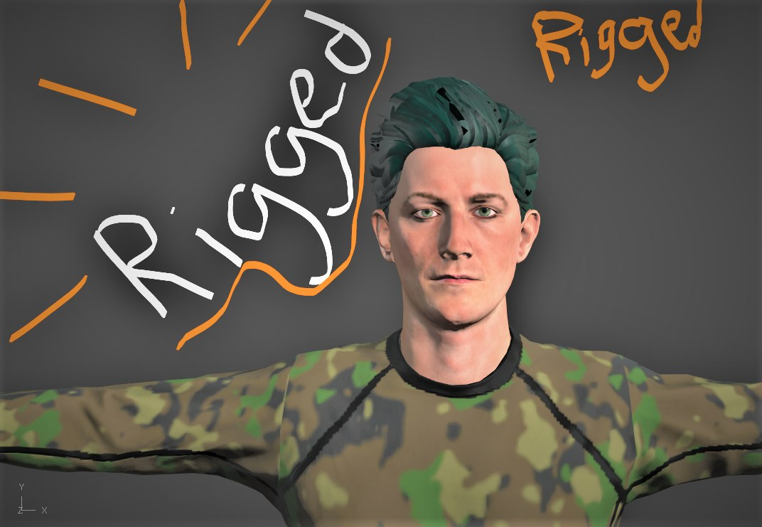 rigged ready games animation 3D