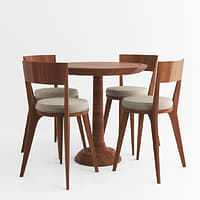 3D model classic table chairs