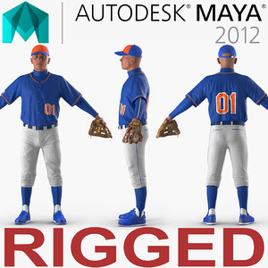 baseball player rigged generic model