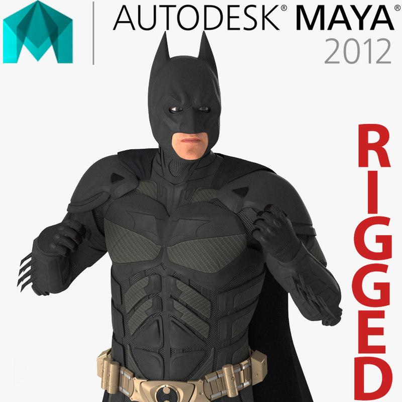 3D model batman rigged