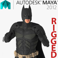 3D model batman rigged