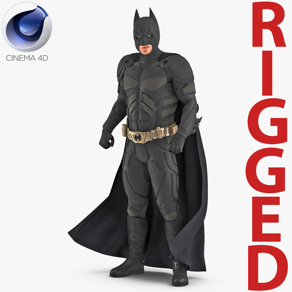 3D batman rigged model