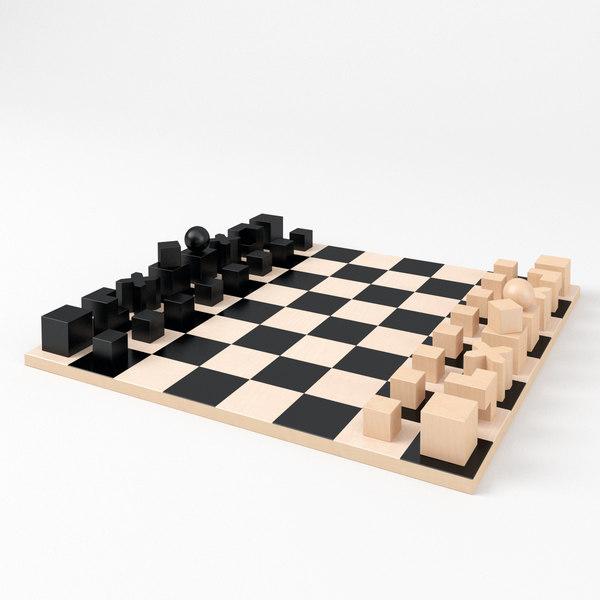 3D bauhaus chess
