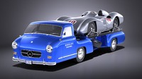 3D mercedes 1954 renntransporter model
