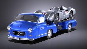 3D mercedes 1954 renntransporter model