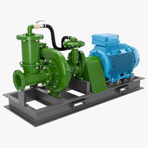 3D water pump motor model