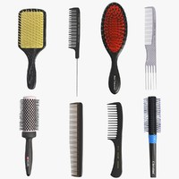 hairbrush set 3D model