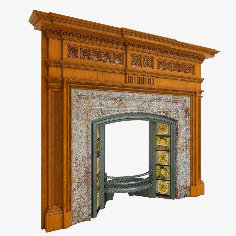 antique walnut 3D model