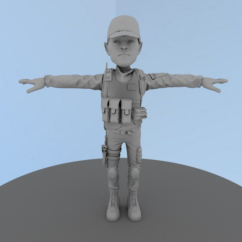 ready character 3D model