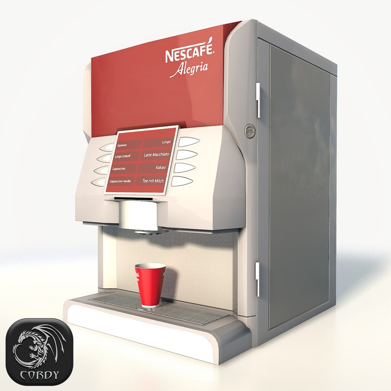 3D nescafe coffee machine