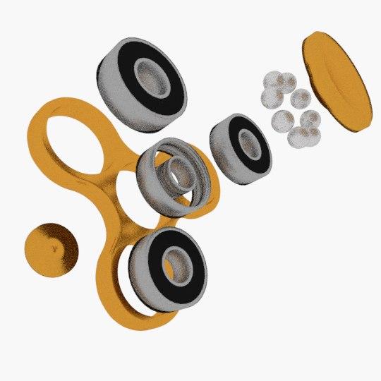 3D model promotional fidget spinner -