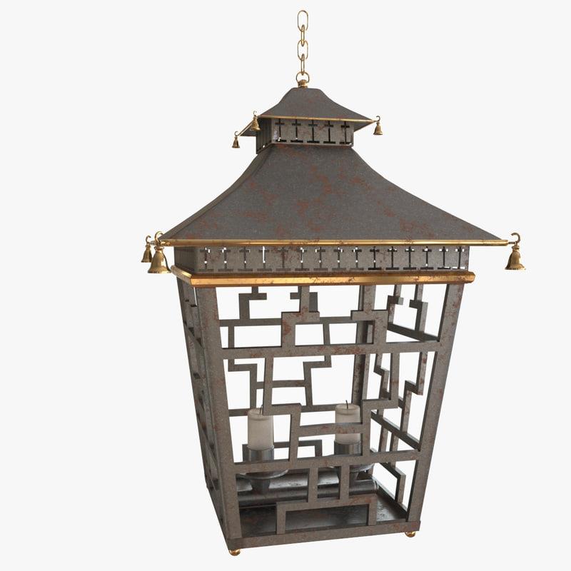chinese lantern lights 3D model