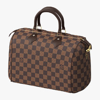 Louis Vuitton Speedy Bag Checker Brown