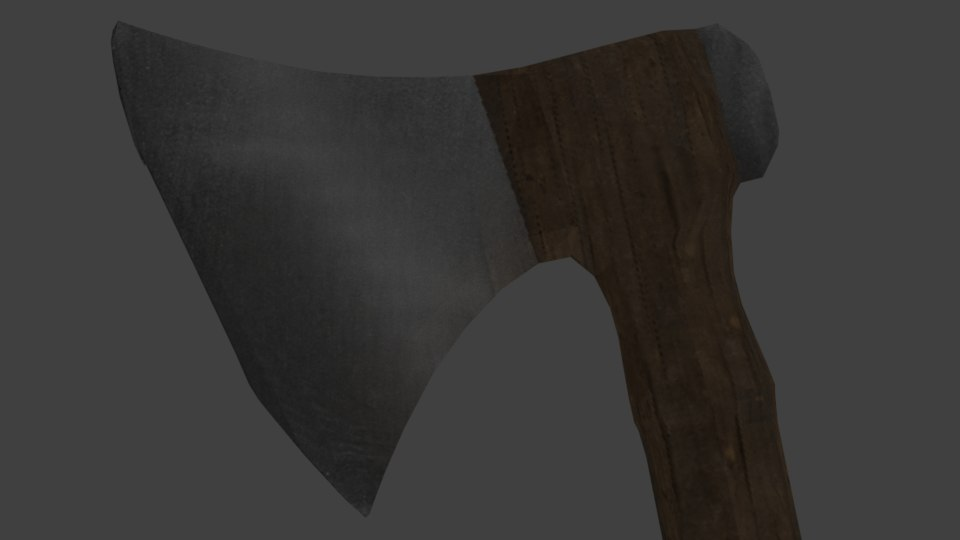 medieval viking axe 3D model