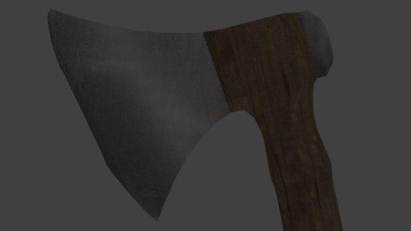 medieval viking axe 3D model
