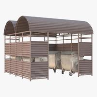 3D bin shelter