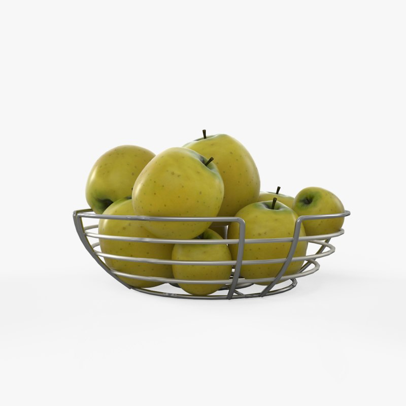 fruit basket 3D
