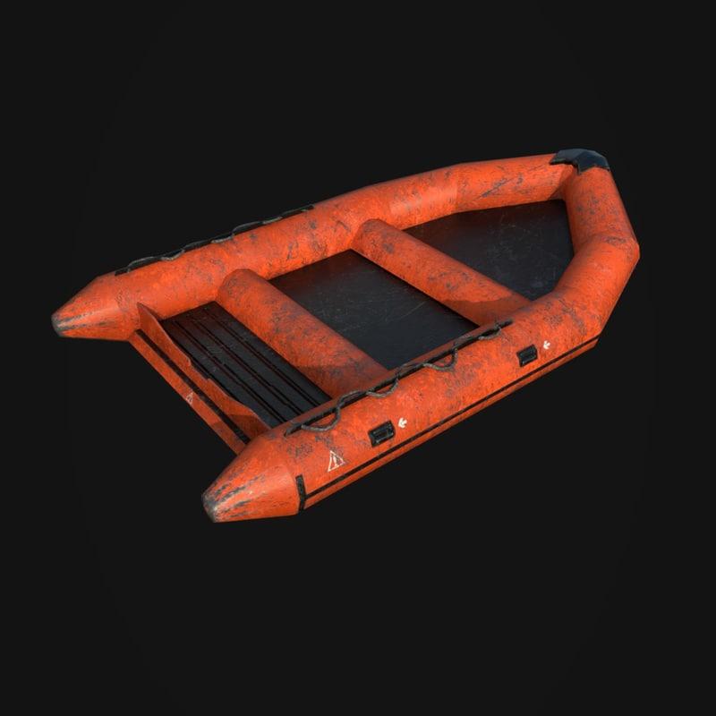 3D life boat model