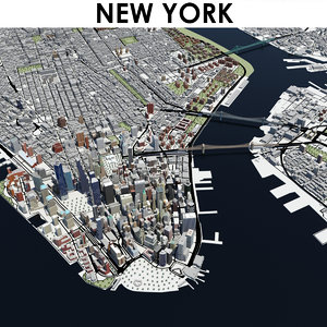 3D model city new york