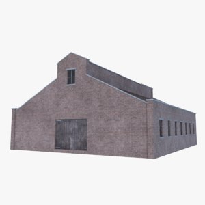 3D old brick barn 4