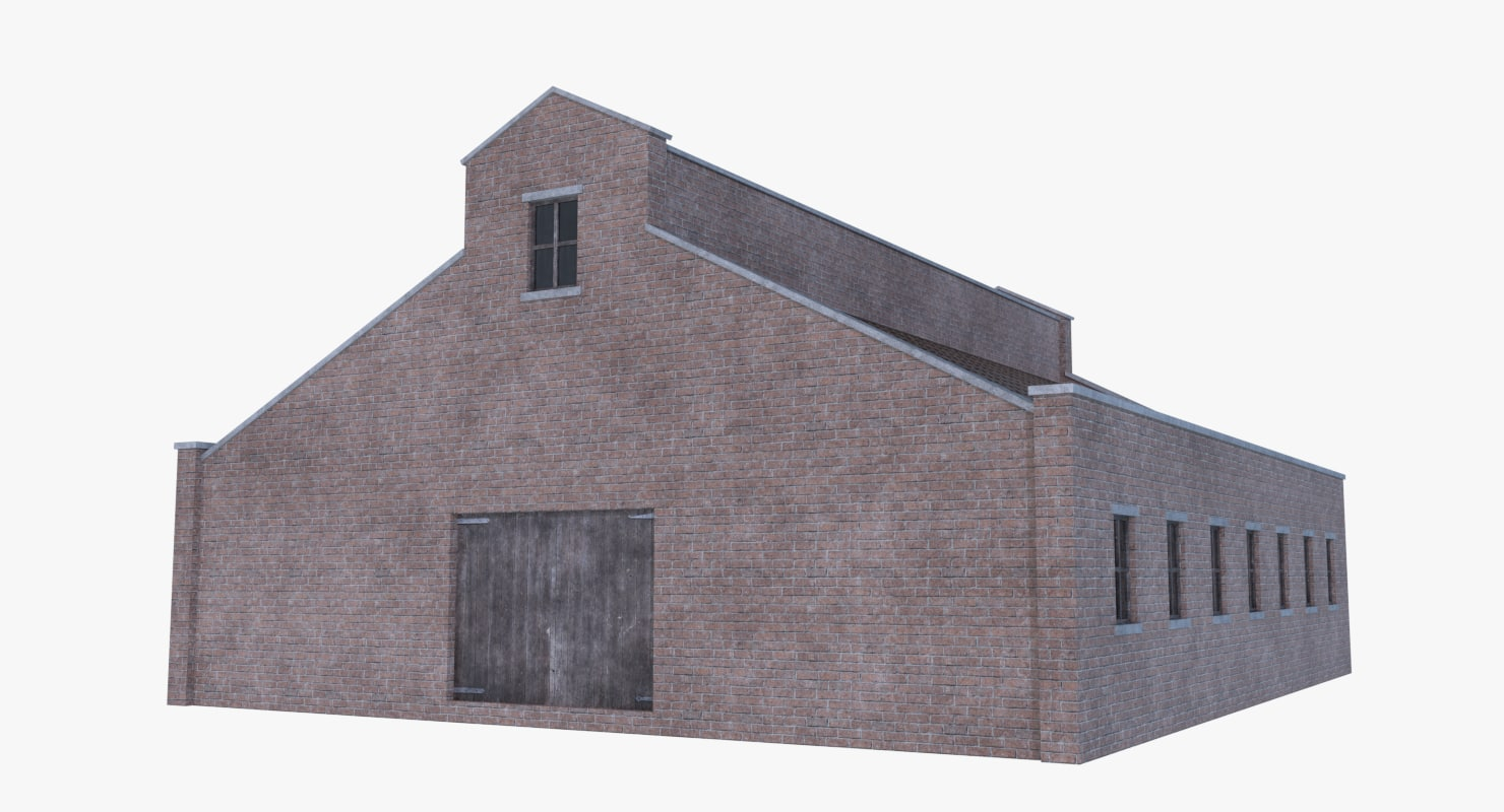 3D old brick barn 4