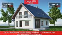 3D house 10 model