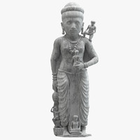 3D statue ancient hariti