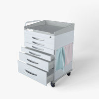 supply cart medical 3D model