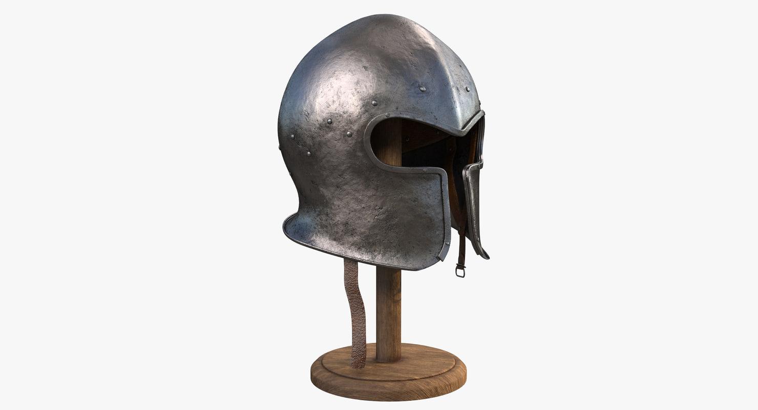3D armor helmet model