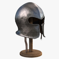 3D armor helmet model