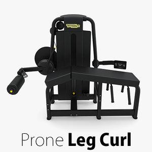 - sp prone leg curl 3D