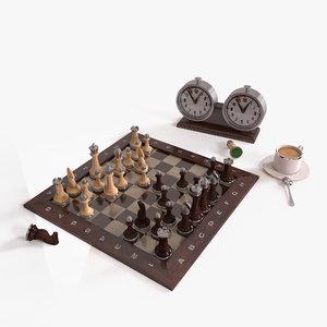 3D set chess board