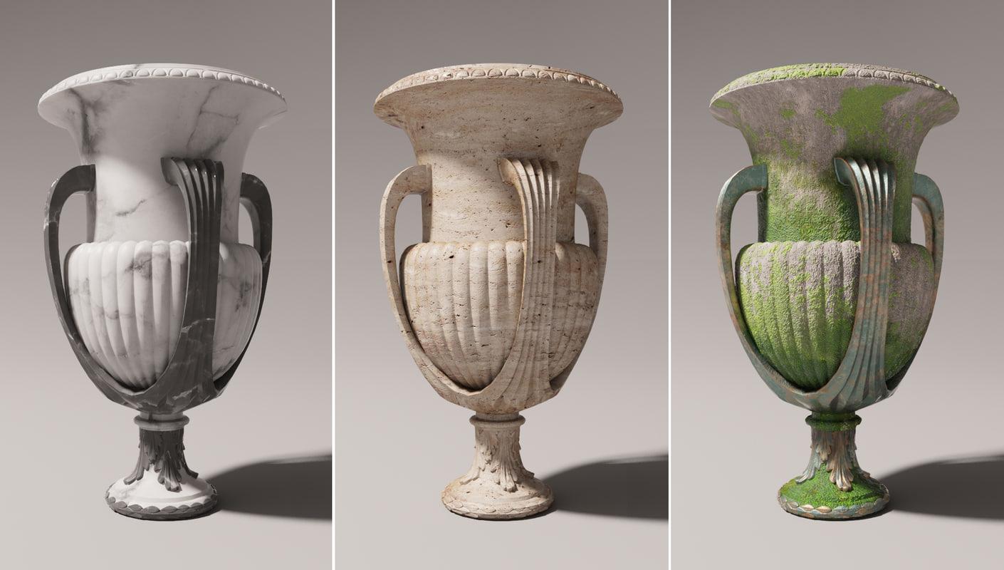 3D vase exterior element model
