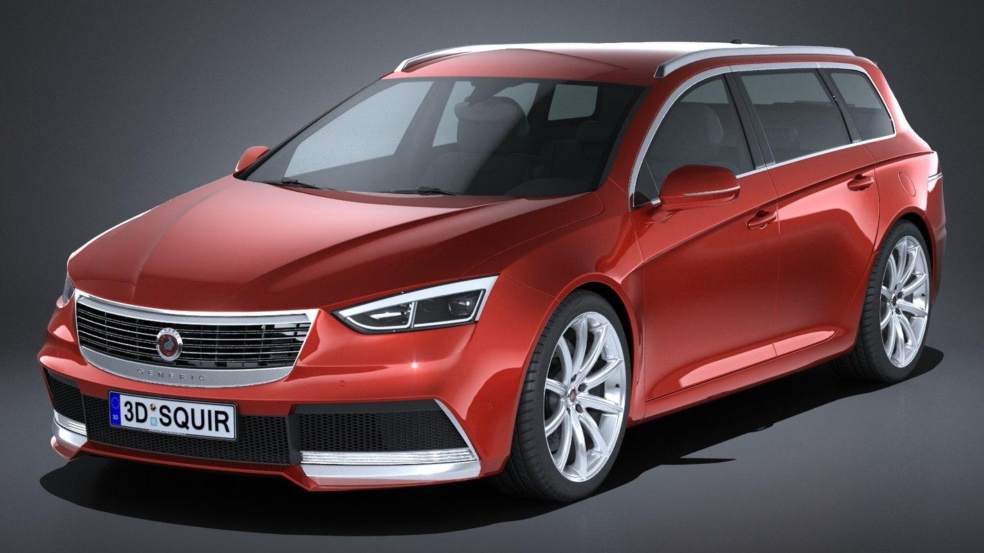 3D model generic wagon estate