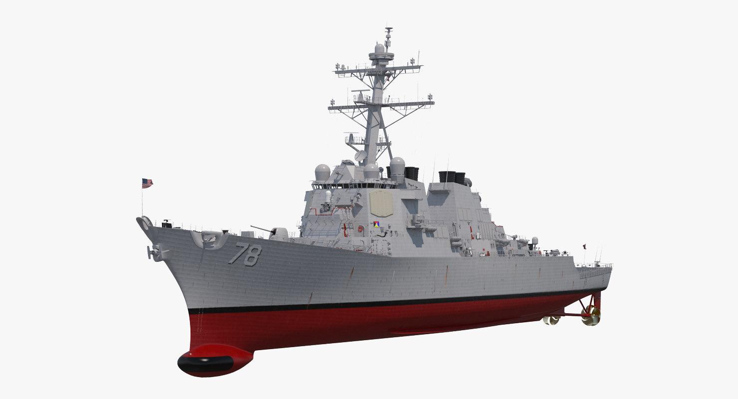 arleigh burke destroyer porter 3D model