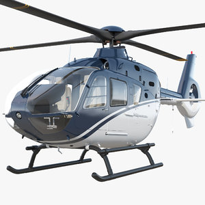 3D model civil helicopter eurocopter ec-135