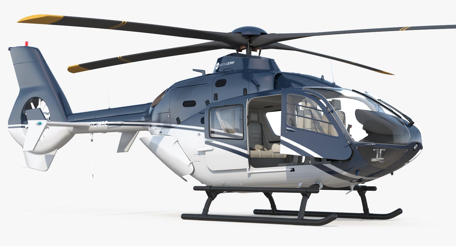 civil helicopter eurocopter ec-135 3D model