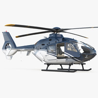 civil helicopter eurocopter ec-135 3D model