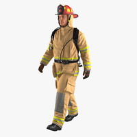 firefighter walking pose 3D model
