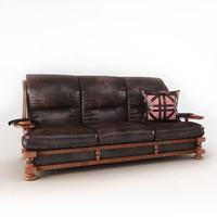 Leather sofa the president