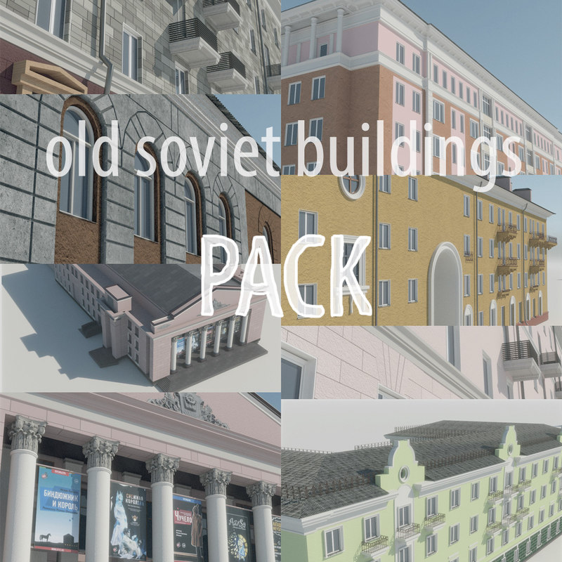 3D model houses street stalin s architecture