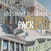 Soviet Russia houses of Stalin's architecture (USSR street pack)