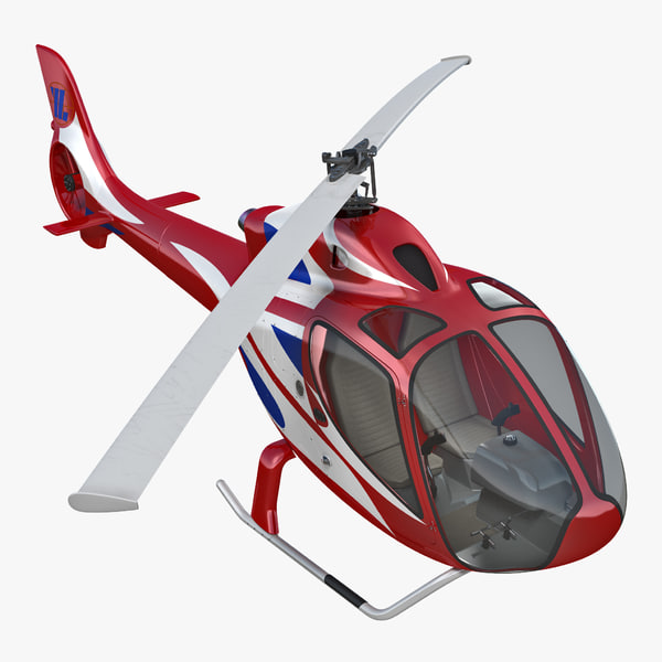 helicopter rt216 rigged 3D