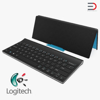 3D model logitech tablet keyboard cover