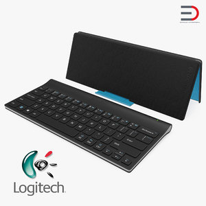 3D model logitech tablet keyboard cover