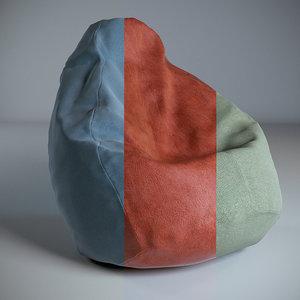 3D sacco armchair model