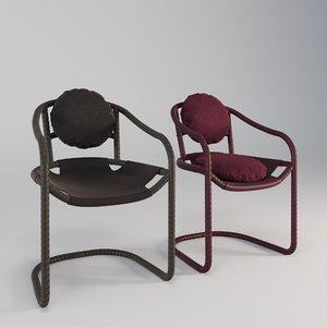 caribou chair seat 3D model